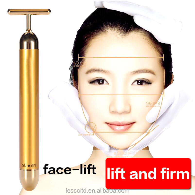 Japan Hotsale Handheld 24k Gold Energy Beauty Bar Slimming Facial Vibrating Massager
