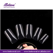 Good Quality Nail Art Tips ABS 500pcs Clear Color Gel Polish Artificial Nail Art Tips For Beauty Design