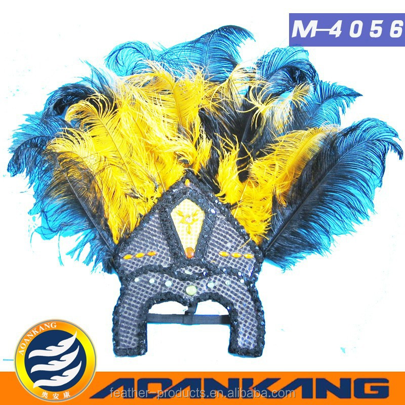 beautiful ostrich feather headdress for Adult ---China supplier
