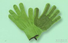 13 seamless nylon/polyester lining PVC dotted gardening glove