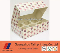 custom printed paper boxes for cupcake wholesale