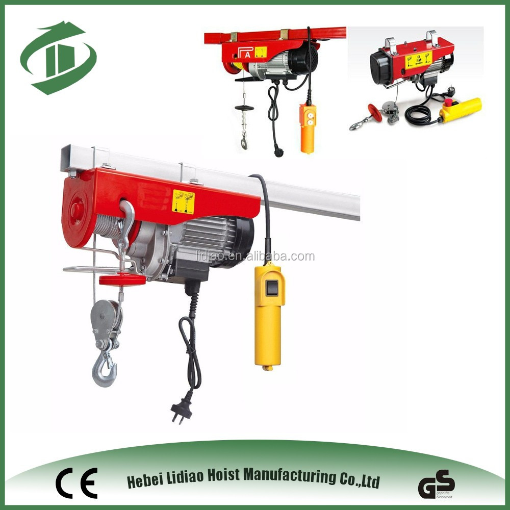 china supplier block and tackle hoist with single speed electric hoist online