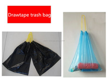 China supplier colored drawtape drawstring garbage bag trash bags