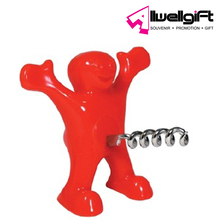 botter opener Plastic stainless steel red color funny man shaped bottle opener
