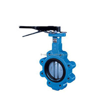 hand operated lug wafer buttefly valve with hand lever