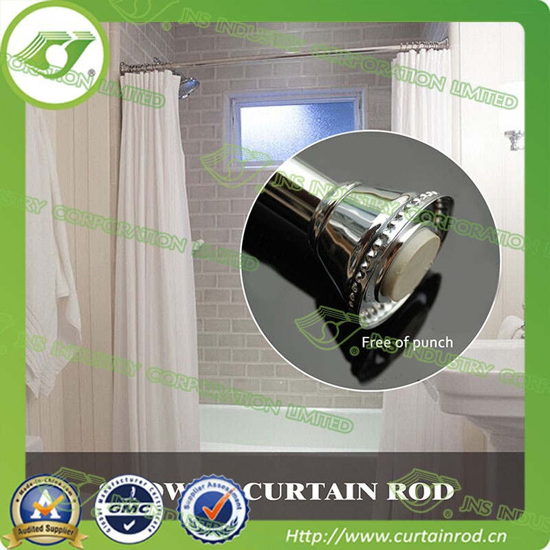 Z114 Bathroom Curved Telescopic Shower Curtain Rods hot sell in America