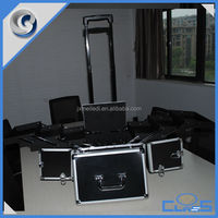 MLD-TC216 Melody Professional Manufacturing Wheeled Aluminum Trolley Luggage Travel Cosmetic Case