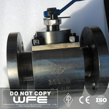 API6D A105 Flange hydraulic forged steel floating 40mm ball valve, gasoline float valve