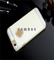 New Capa Para Slim Chrome Case Back Cover Mobile Phone Hard Case for iPhone 4 5 6 6 Plus