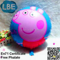 18 inch 2014 new custom advertising pig toy balloon