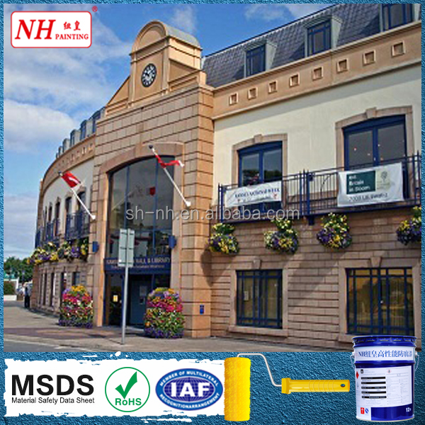 Silicon based exterior wall stone paint