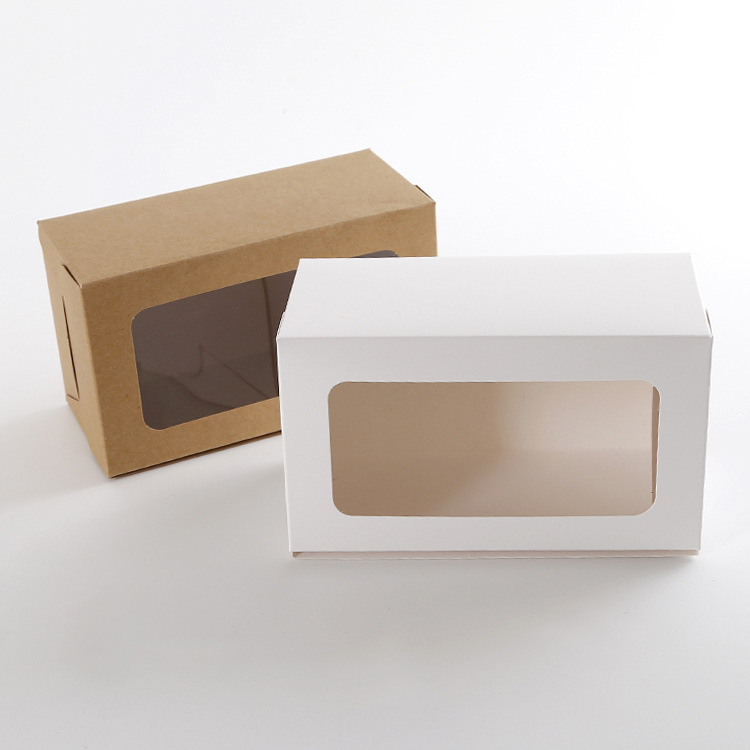 High quality new design custom food grade kraft paper cake boxs cupcake boxes wholesale