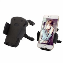 360 Rotating Car CD Slot Mount Cell Phone Holder with Quick Release Button