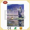 Factory price religious lighted pictures, Christian canvas painting with led lights
