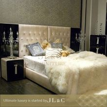 New design wood bed frame luxury bedroom sets-JB17-01 made in china