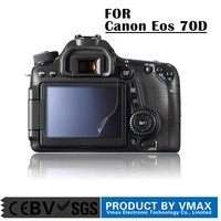 Brand Vmax !! PET Material LCD digital camera screen protector for Canon Eos 70D / OEM Screen protector