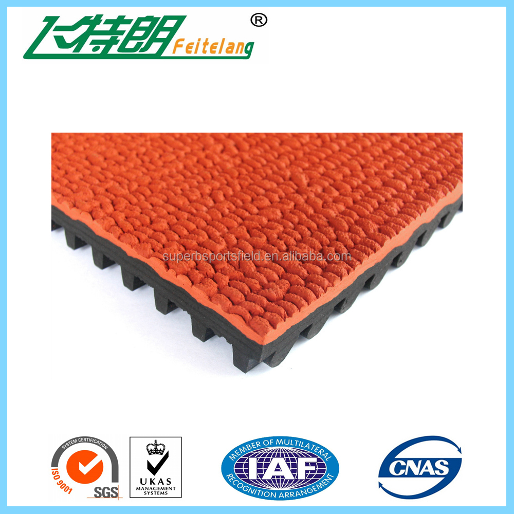 Weather Resistant Anti-UV Stadium School Preformed Rubber Rolls Sports Track For 400 Meter Standard Running Field