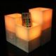 3 LED Wax Candles with Remote Control, Color Changing Mode, Multiple Timers