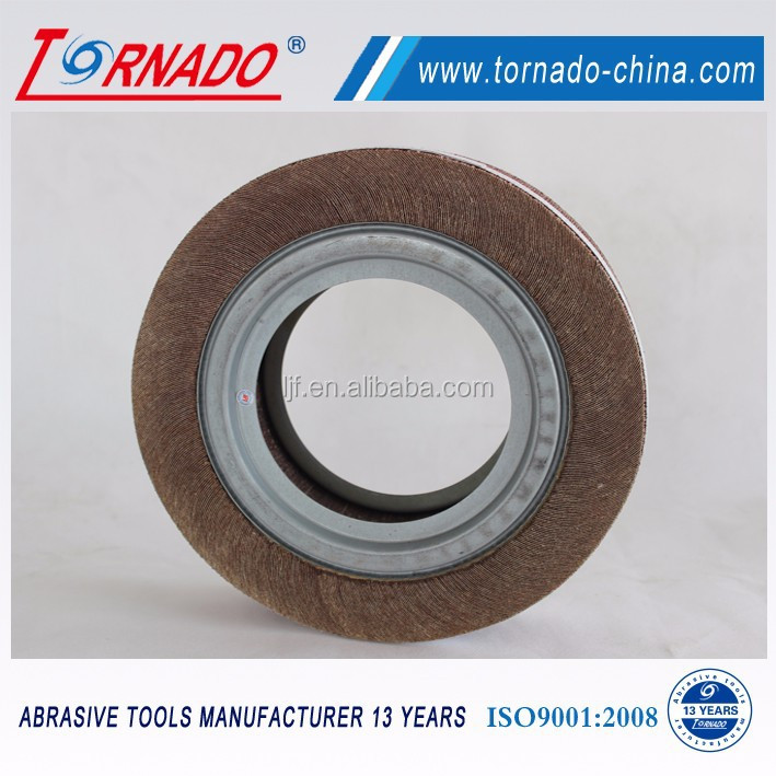 "Tornado 12""X2""X1-1/4""/1"" grit 36#-1200# abrasive flap wheels with bore for wood and metal grinding"