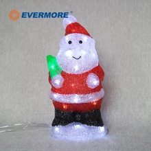 Evermore Santa Claus Christmas decorations Lowes outdoor Christmas lights