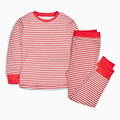 Red and white strip basis warm girls wear set