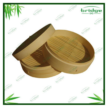 Bamboo steamer and commercial cooking pots