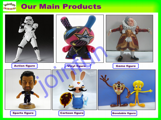 Custom cartoon bendable figure/OEM bendable figure toys