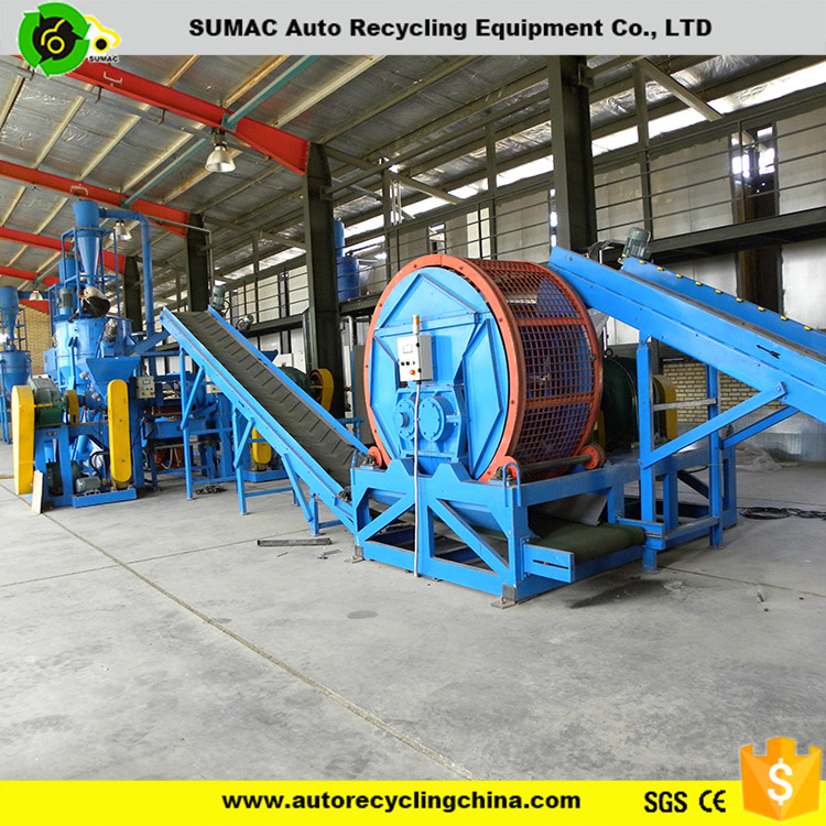 waste tire recycling equipment recycling Crumb Rubber Plant