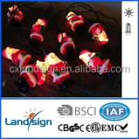 XLTD-134 miniature garden solar string light/ solar festival light with Santa Claus