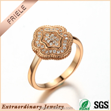 Elegance golden new design engagement ring 925 sterling silver jewelry wholesale 2 gram gold jewellery