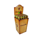 Custom Flooring Cardboard Honey Display Stand with Side Cutouts Panels