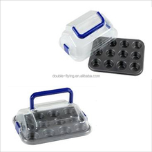 Mini House Shape Pastry Cupcake/Cake Carrier And Display, Cupcake Pastry Cake Storage Container