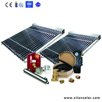 swimming pool heating with work station solar collector