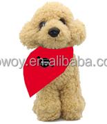 European standard EN71 soft plush dog Poodle Stuffed Animals Dogs with scarf logo animal toy