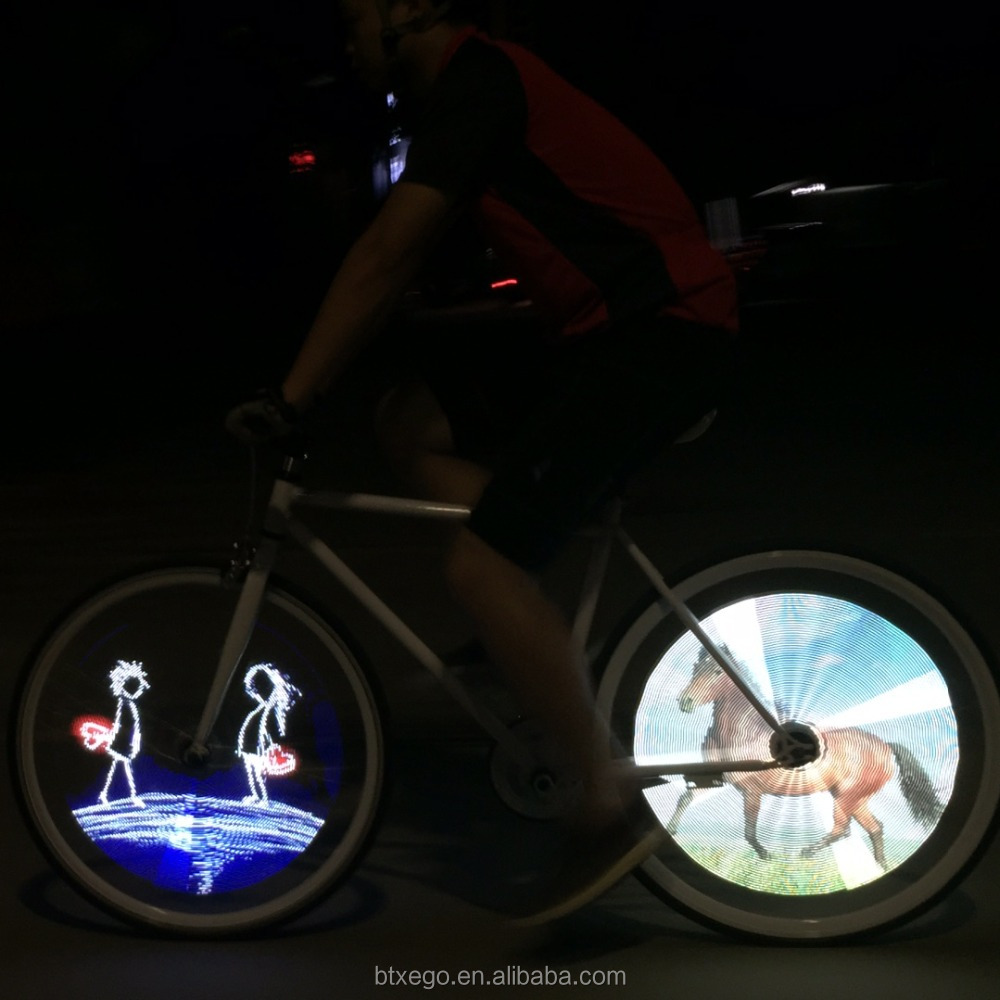 416 LED DIY bicycle wheel light electric bicycle online shopping UK hair accessories