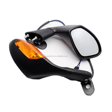 KC17MM16 ABS Black Motorcycle Mirror LED turn Light Motor Rear View Mirror Signal Universal for Aprilia RSV 1000 2004-2008
