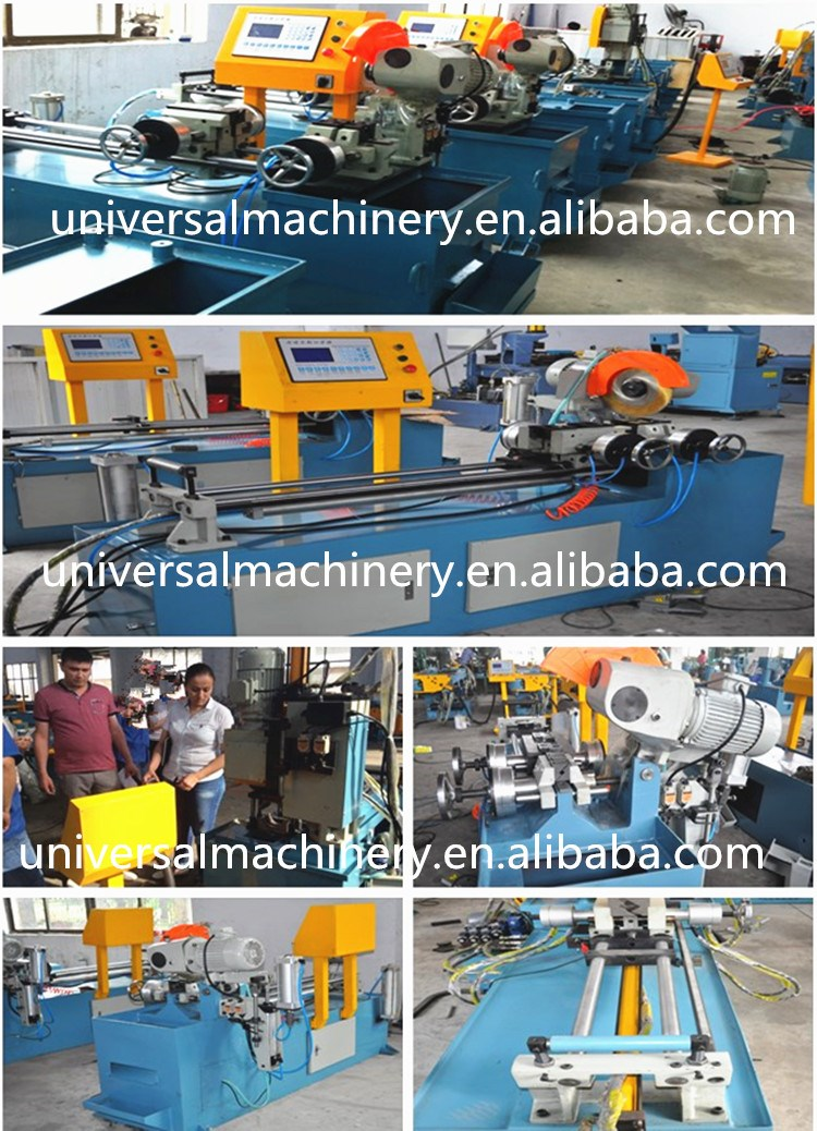 Big Capacity UM 350CNC full automtaic Pipe Cutting Machine for iron, mild steel, stainless steel, copper pipe or bar