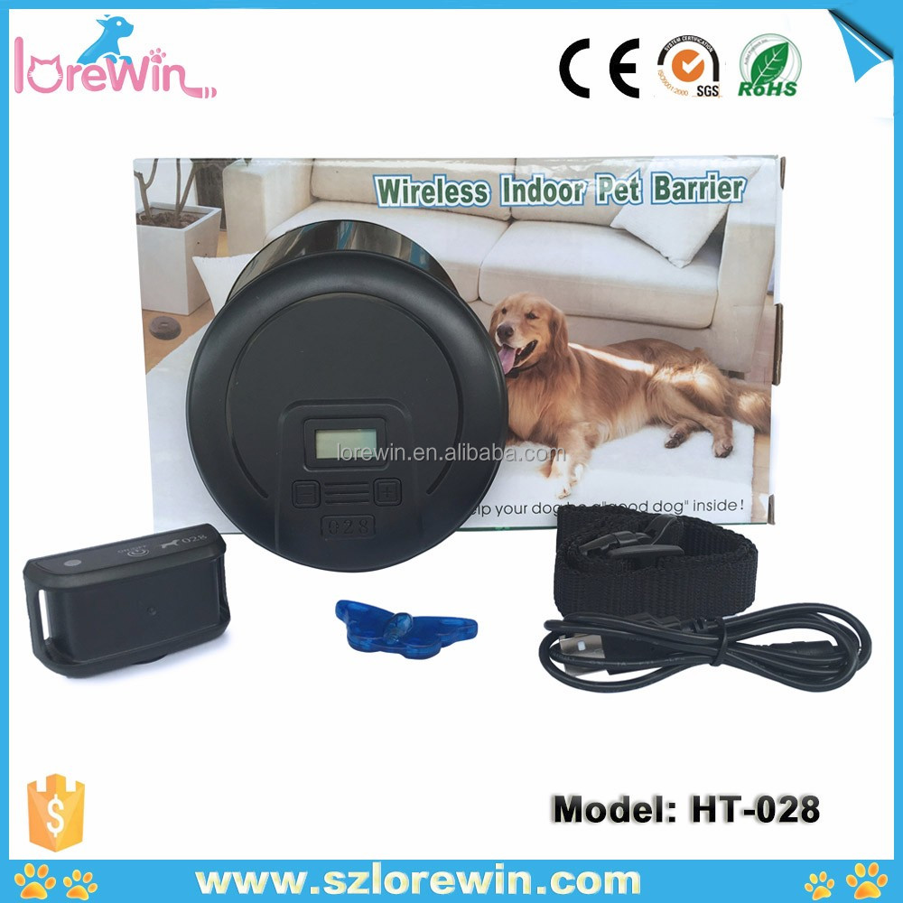LoreWin 2017 Spain Hot Underground Electric Dog Fence 2 Wireless <strong>Shock</strong> Collar Waterproof Hidden System <strong>HT</strong>-028