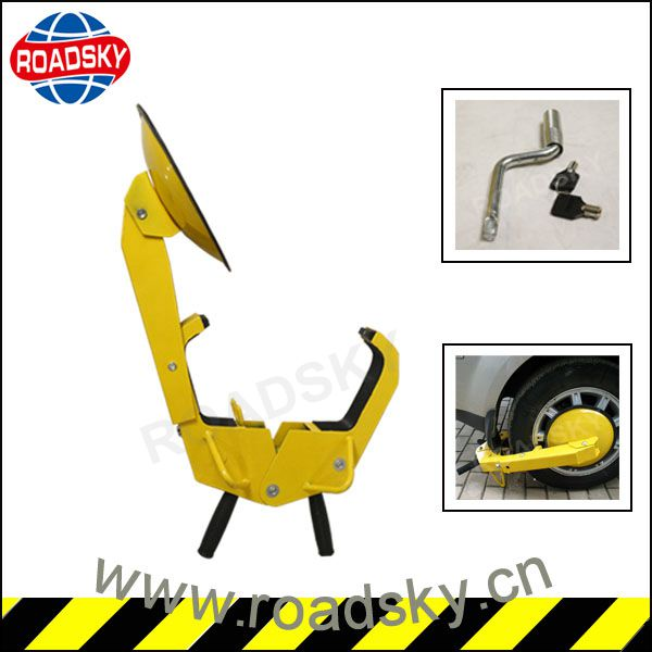 Heavy Duty Suction Cup Steel Security Car Tyre Lock