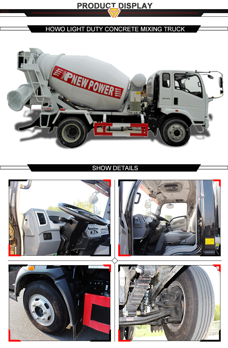 High Quality Sinotruk howo 4 cubic meters concrete mixer truck price