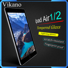 Free sample,9H Transparent Clear Anti Fingerprint Screen Protector for iPad Air 2 Tempered Glass