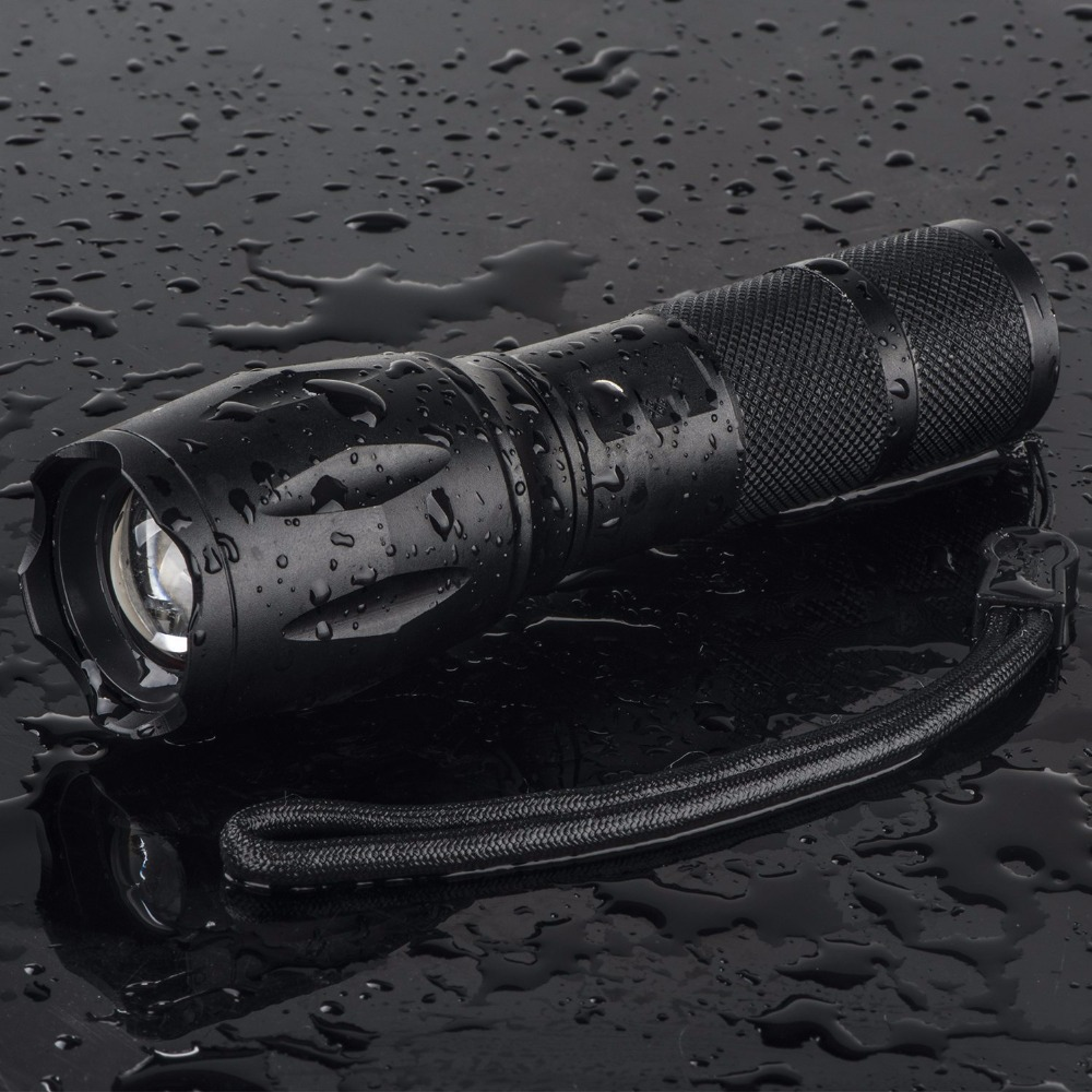 Aggressive zoomable waterproof t6 18650 tactical german led flashlight
