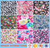 China supplier 100% polyester fabric 3d printing flower print fabric for bedding