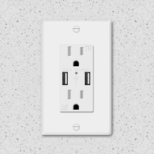 125V 4.2A Dual USB Wall Outlet from China