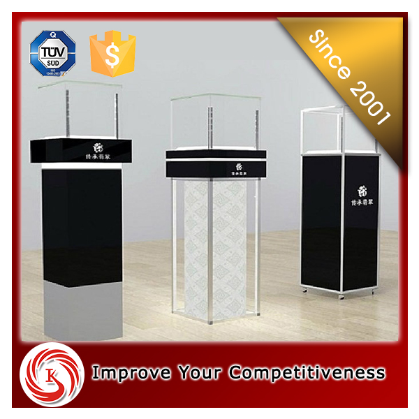 2016 New arrival floor standing jewelry necklace glass display case