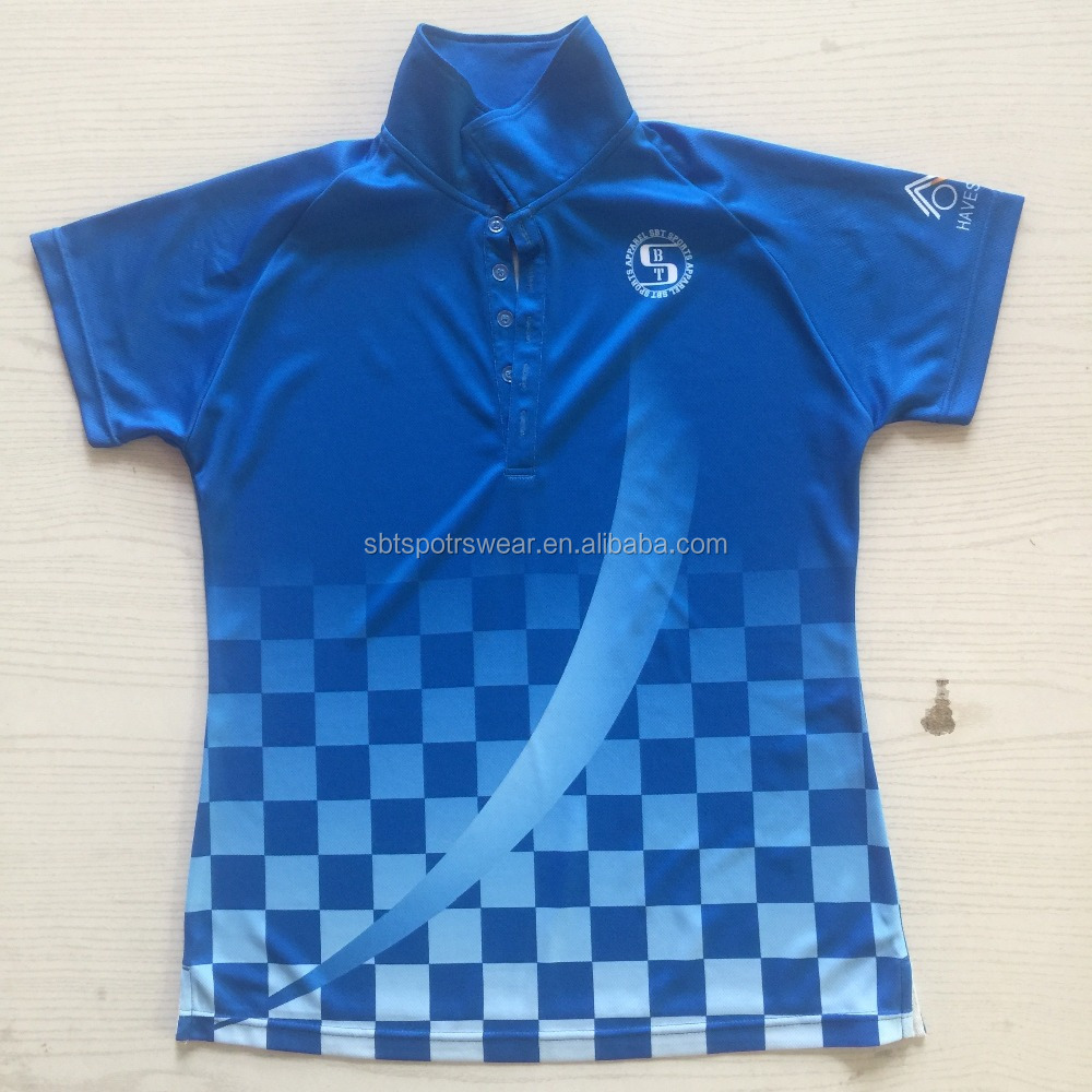 2017 latest customized polo shirts/cricket polo t-shirt full sublimation printing
