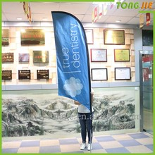Good quality weather proof double sides flag banner, teardrop flag