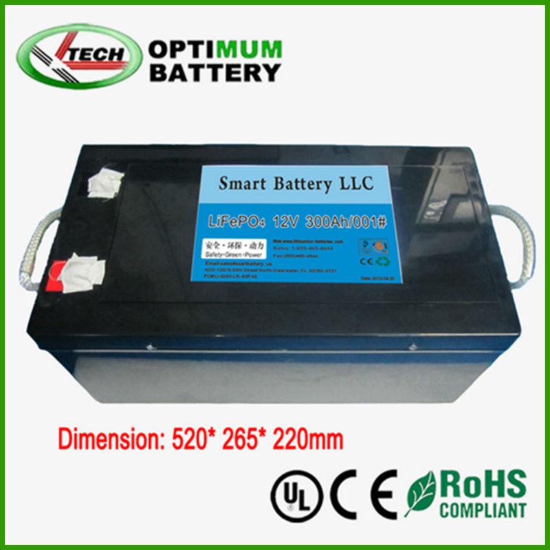solar battery 12v 300ah lifepo4 with high power