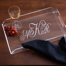 Acrylic cheap plastic restaurant hotel serving tray