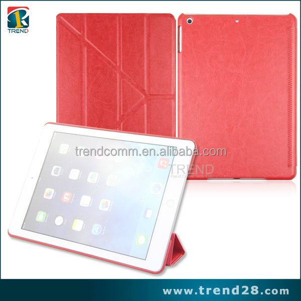 crazy horse fold Leather Smart Case Cover For iPad Air 5